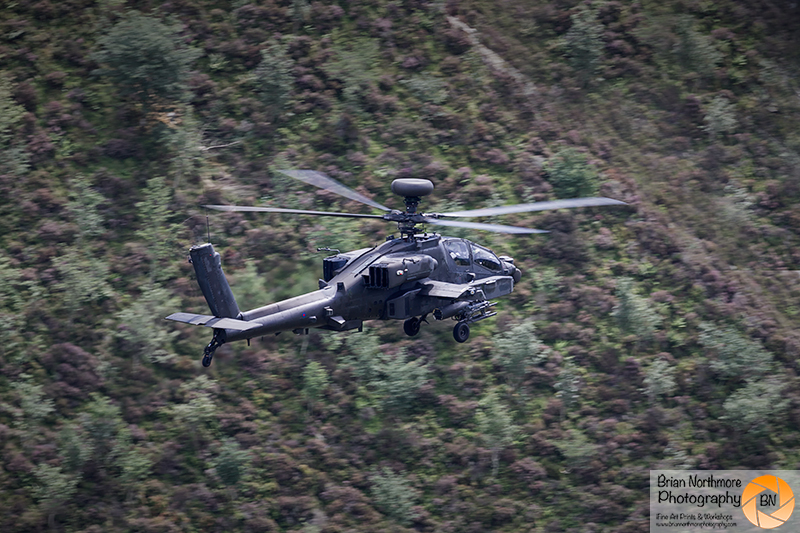 Brian Northmore Aviation Photography. Army Air Corps Apache Gunship, on the Machloop