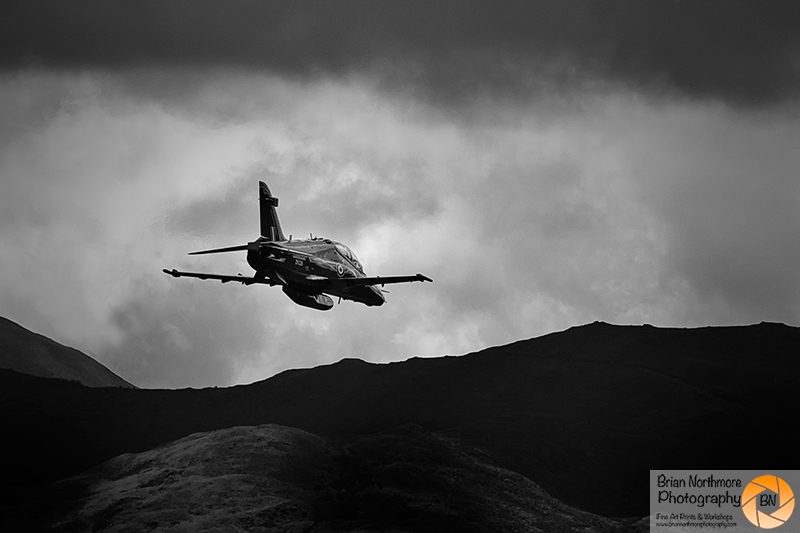 Brian Northmore Aviation Photography. BAE Hawk, from 4 Squadron RAF Valley over the Machloop North Wales