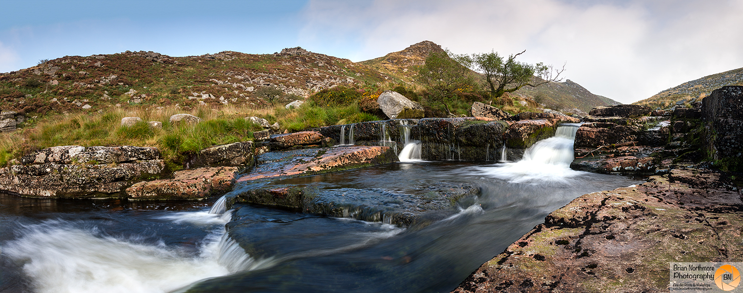 Tavy Cleave Waterfall, Colour Panoramic Print