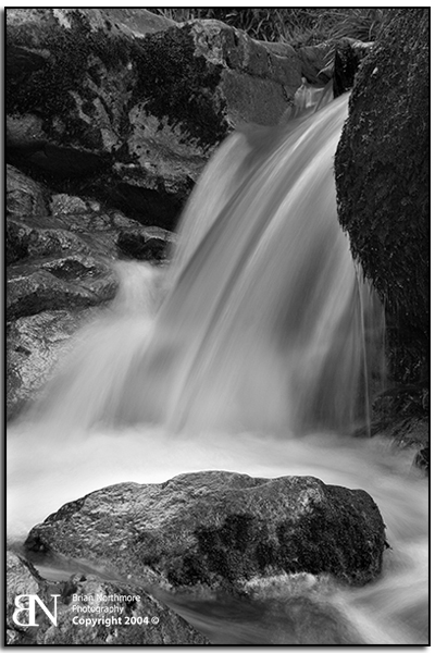 Aira Beck Waterfall A Black and white landscape photograph