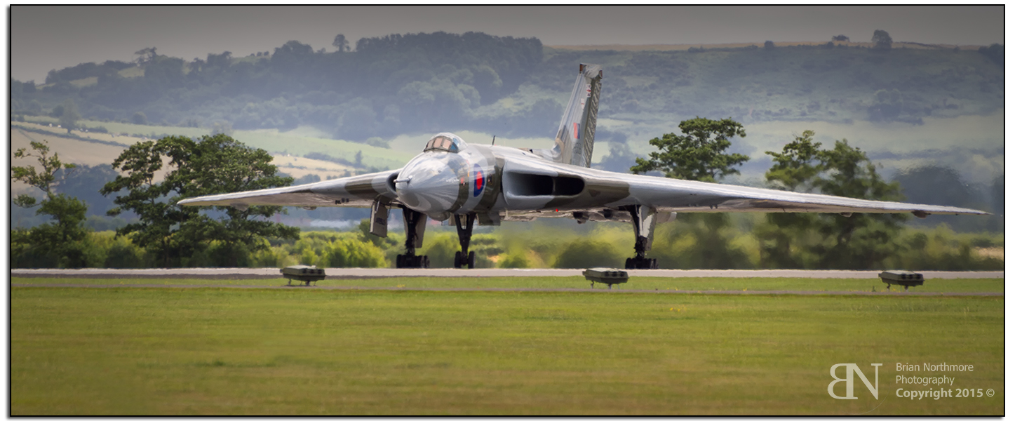 Vulcan Bomber Taxi and Hold Ready for Take Off