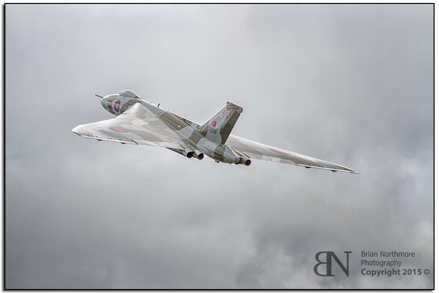Vulcan Bomber Showing her mighty Delta Wing