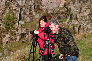 Photography workshop Devon. Practising using the histogram and tripods